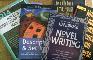 A tiny sampling of writing how-to books in my library.