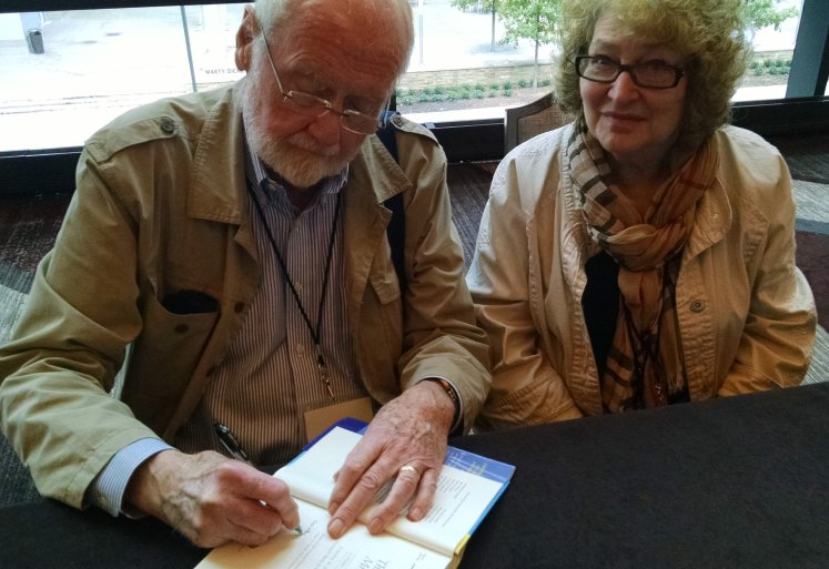 Murder She Wrote authors Donald Bain and Renee Paley-Bain sign a copy of their latest book in memory of my mother, one of their biggest fans.